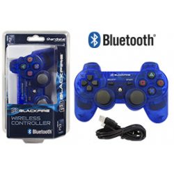 PS3 ACA MANDO BLUETOOTH BLACK FIRE AZUL