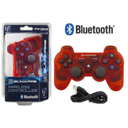 PS3 ACA MANDO BLUETOOTH BLACKFIRE ROJO