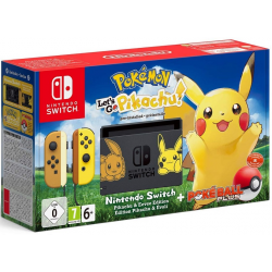 C NINTENDO SWITCH EDICION PIKACHU LETS GO PIKACHU + POKE BALL PLUS