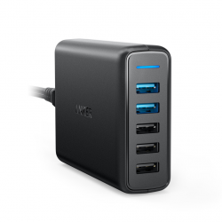 CARGADOR POWERPORT SPEED 5 PUERTOS USB 2 QUICKCHARGE-ANKER