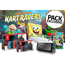 PACK NINTENDO SWITCH+NICKELODEON CART RACERS+PROTECTOR VIDRIO TEMPLADO