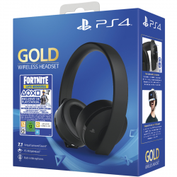 PS4 GOLD WIRELESS HEADSET + FORTNITE VOUCHER 2019