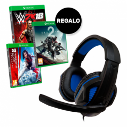 PACK EXCLUSIVO XBOX GAMING HEADSET + JUEGO