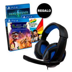 PACK EXCLUSIVO PS4 GAMING HEADSET + JUEGO
