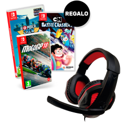 PACK EXCLUSIVO SWITCH GAMING HEADSET + JUEGO