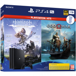 CONSOLA PS4 PRO 1TB + GOD OF WAR + HORIZON ZERO DAWN