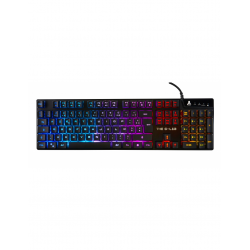 TECLADO GAMING CON CABLE THE G-LAB KEYZ IRIDIUM ILUMINADO