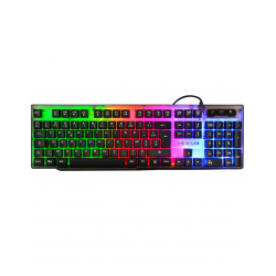 TECLADO GAMING CON CABLE THE G-LAB KEYZ NEON ILUMINADO