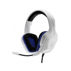 AURICULARES GAMING THE G-LAB KORP COBALT WHITE CON MICROFONO