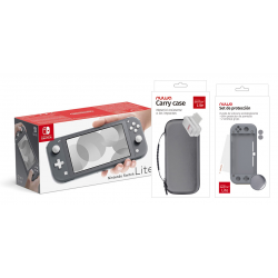 PACK SWITCH LITE+SILICONA+FUNDA GRIS