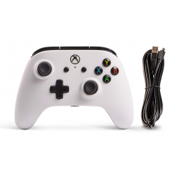 POWER A - MANDO CON CABLE CORE BLANCO-XBOX ONE
