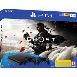 C PS4 SLIM 1TB + GHOST OF TSUSHIMA INCLUYE 2 DUALSHOCK