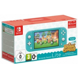 C NINTENDO SWITCH LITE TURQUESA + ANIMAL CROSSING NEW HORIZONS + 2 MESES NSO