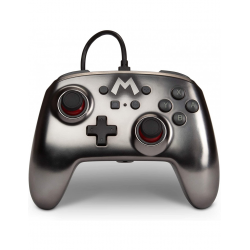 POWER A SWITCH ENHANCED WIRED CONTROLLER SILVER MARIO