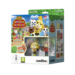 ANIMAL CROSSING AMIIBO FESTIVAL (2 FIG + 3 TARJETAS)-WIIU