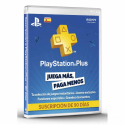TARJETA PLAYSTATION PLUS CARD HANG 90 DAYS