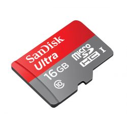 ULTRA MICROSDHC 16GB + SD ADAPTER 80MB/S CLASS 10 UHS-I