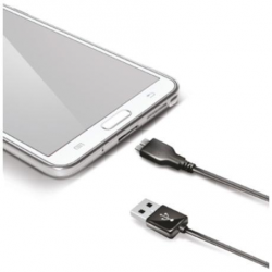 CABLE USB 3.0 1M CONECTOR MICRO USB 2.1A MAX SAMSUNG S5 NEGRO BASIC