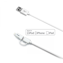 USB DATA CABLE MICRO LIGHTNING ADAPT CABLE USB 1M CONECTRO MICRO USB BASIC