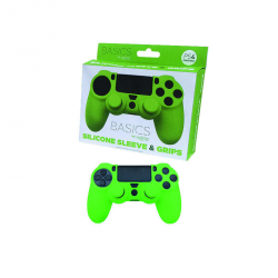 PS4 SILICONE + GRIPS VERDE
